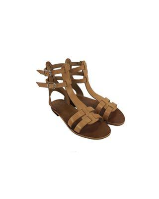 Sandalo alla romana alto alla caviglia.